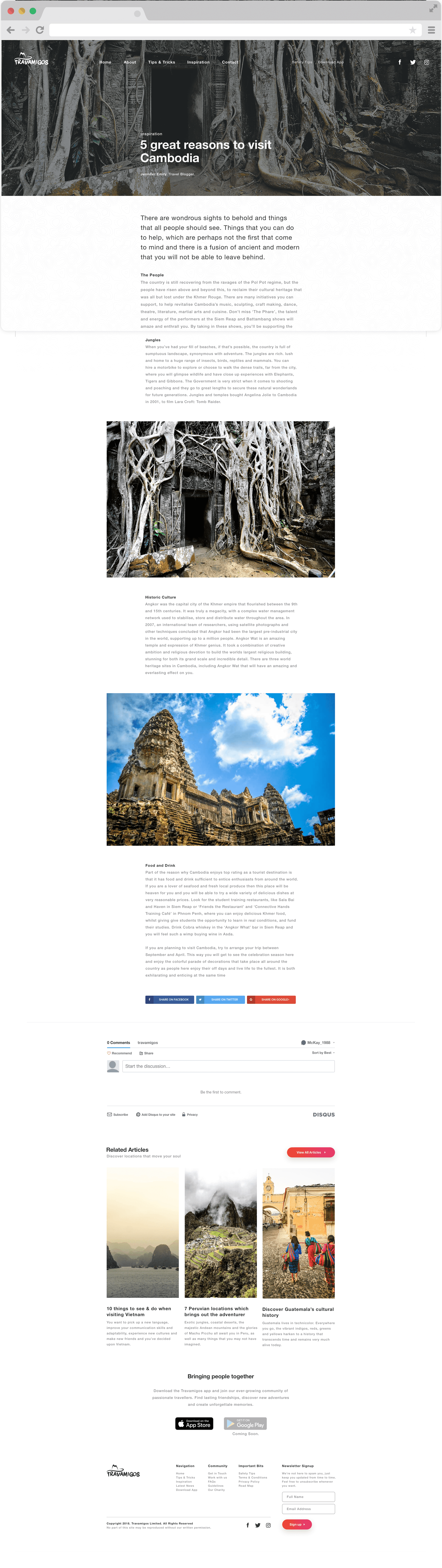 Travamigos article design